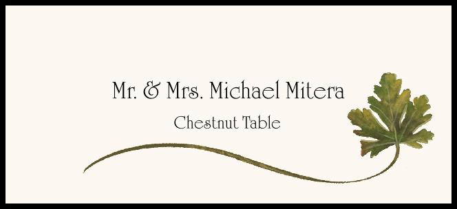 Chestnut Wispy Leaf  Place Cards