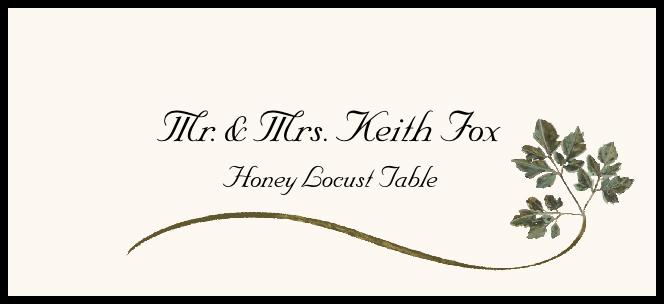 Honey Locust Wispy Leaf  Place Cards