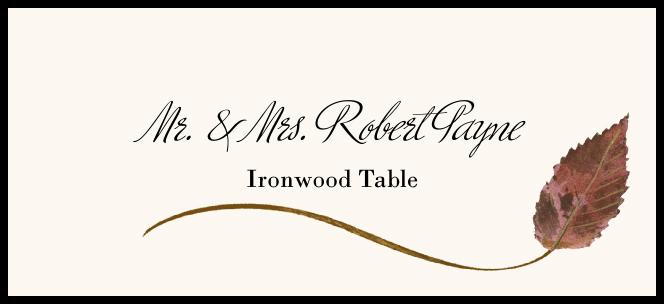 Ironwood Wispy Leaf  Place Cards
