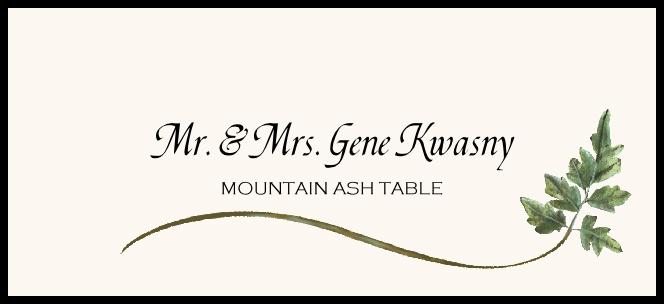 Mountain Ash Wispy Leaf  Place Cards