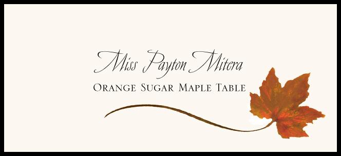 Orange Sugar Maple Wispy Leaf  Place Cards
