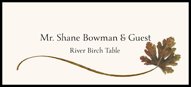 River Birch Wispy Leaf  Place Cards
