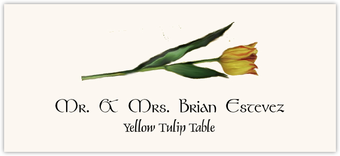 Yellow Tulip  Place Cards