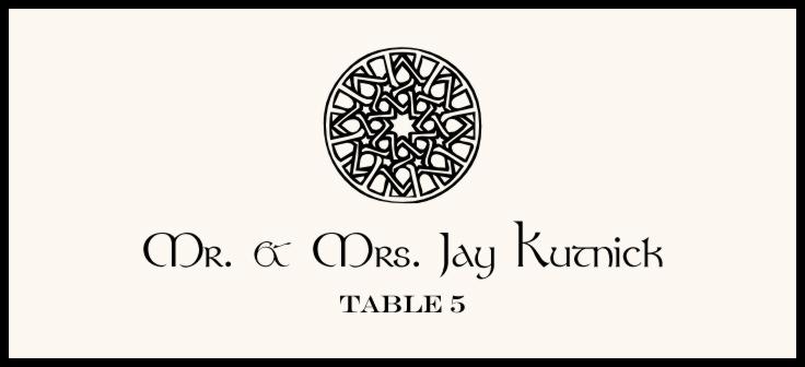 Celtic Knot Assortment  Place Cards