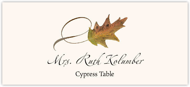 Assorted Twisty Leaves  Place Cards