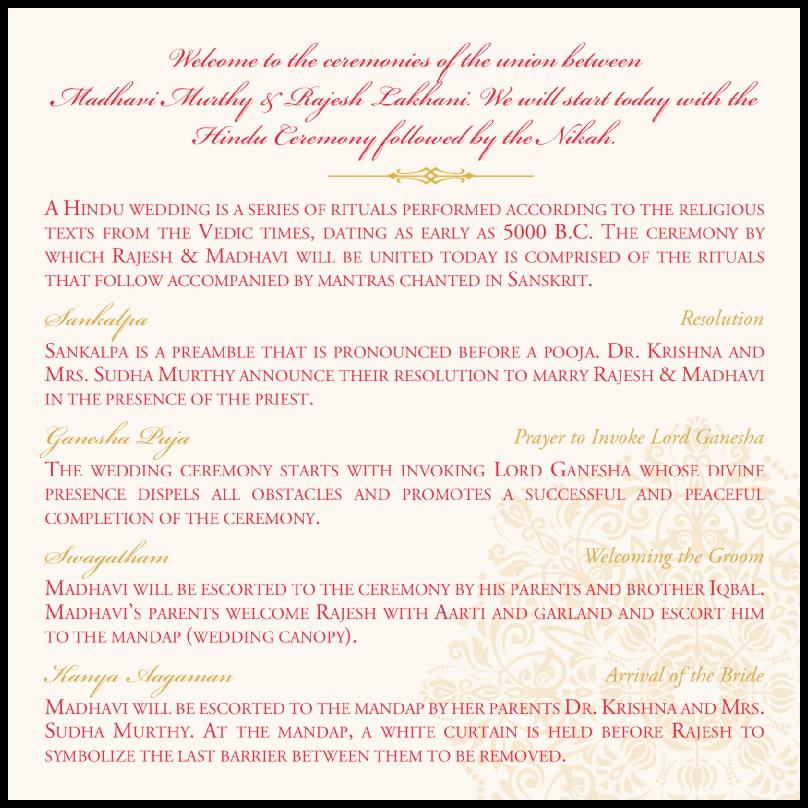 Henna Watermark  Wedding Programs