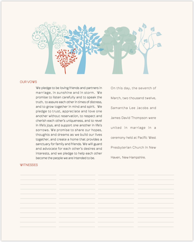 Transparent Forest  Wedding Certificates