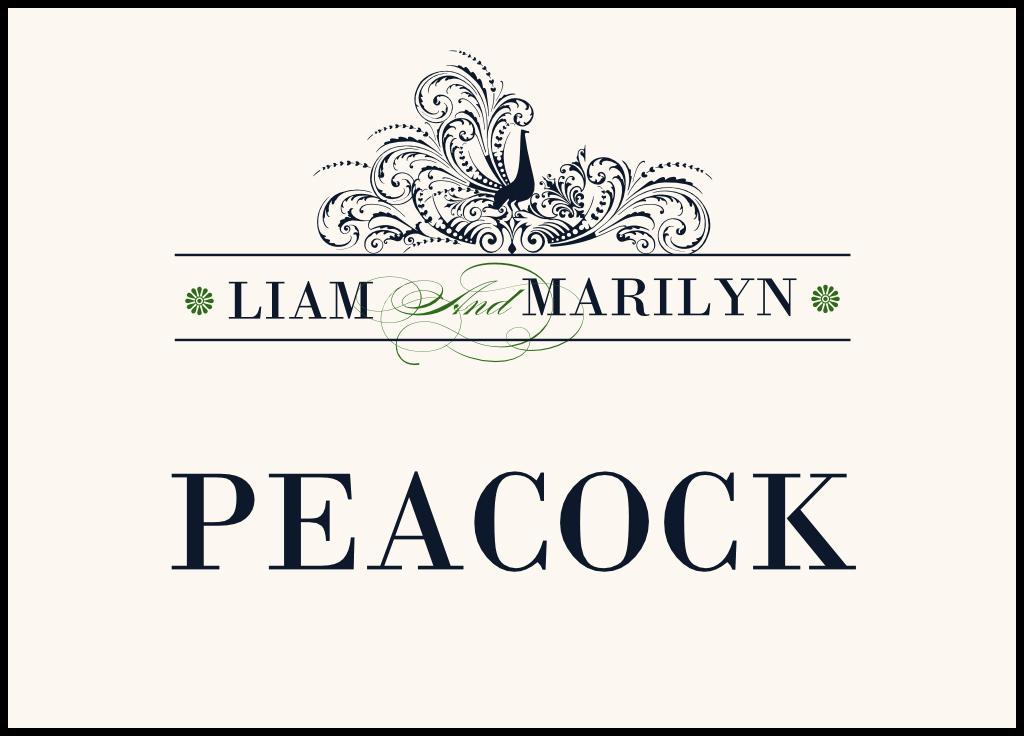 Pompous Peacock  Table Names