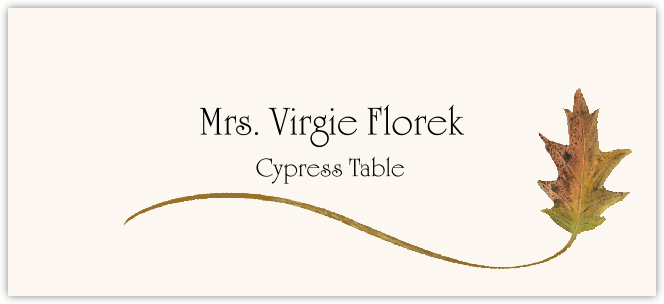 Cypress Wispy Leaf  Place Cards