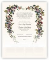Antique Pinks Heart Wedding Certificates