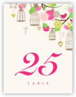 Bird Cages Table Numbers