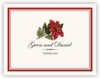 Poinsettia Thank You Notes