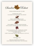 Colorful Leaves Assortment Wedding Menus