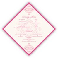 Diamond Mandala Wedding Menus