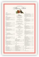 Butterflies and Flowers Seating Charts
