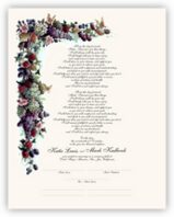 Fruit and Butterflies Wedding Certificates