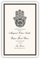 Hand of Miriam Wedding Programs