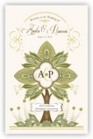 Paisley Forest Tree Wedding Programs
