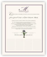 Iris Bulb Wedding Certificates