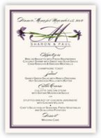 Wispy Iris Wedding Menus
