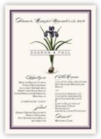 Iris Bulb Wedding Menus