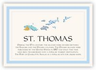 Map of the Virgin Islands 1 Memorabilia Cards