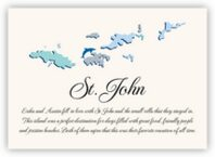 Map of the Virgin Islands 2 Memorabilia Cards