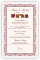 Maple Leaf Pattern Wedding Menus