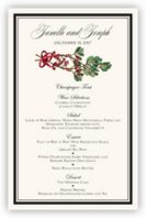 Mistletoe Wedding Menus