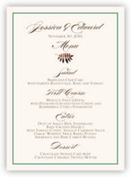Peaceful Autumn Wedding Menus