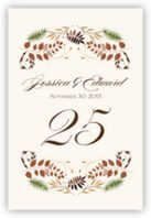 Peaceful Autumn 01 Table Numbers