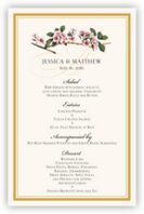 Cherry Blossoms Wedding Menus