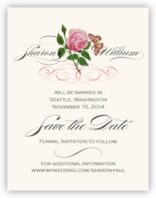 Pink Tea Rose Save the Dates