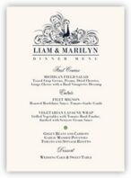 Pompous Peacock Wedding Menus