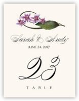 Purple Calypso Orchid Table Numbers