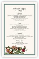 Rose Garden 01 Wedding Menus
