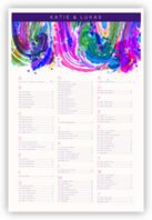 Royal Blue & Purple Colorful Abstraction Seating Charts