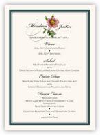 Wild Pink Rose Swirl Wedding Menus
