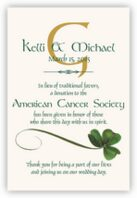 Wispy Shamrock Donation Cards