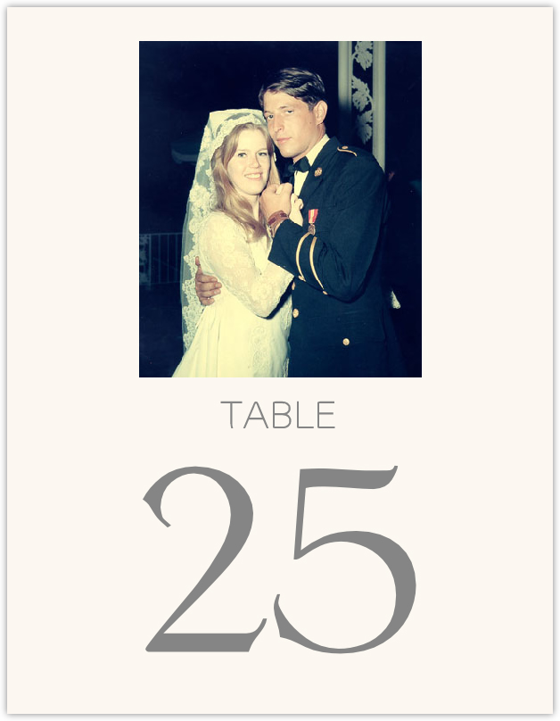 Memory Lane Table Numbers