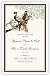 Asian Peace Birds  Wedding Programs