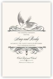 Constitution Flourish Birds  Wedding Programs