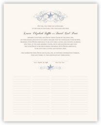 Curly Sue Snowflake  Wedding Certificates