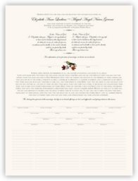 Fall Indy  Wedding Certificates