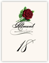 Roses Assortment  Table Numbers