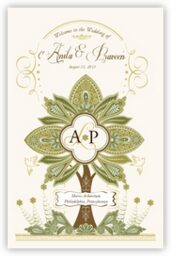 Paisley Forest Tree  Wedding Programs