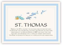 Map of the Virgin Islands 1  Memorabilia Cards