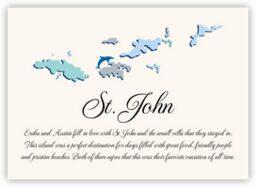 Map of the Virgin Islands 2  Memorabilia Cards