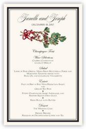 Mistletoe  Wedding Menus
