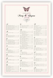 Pink Butterfly  Seating Charts